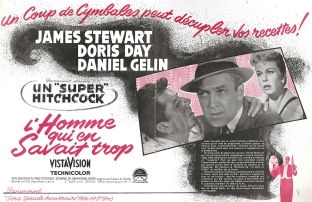 L'homme qui en savait trop (Paramount, 1956). France publicité.