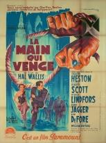 La main qui venge (Paramount, 1952). France 120 x 160. ©collection Jérôme Rouault