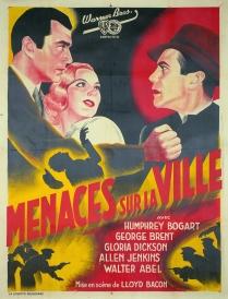 Menaces sur la ville (Warner Bros. First National, 1938). France 120 x 160.