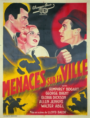 Menace sur la ville (Warner Bros. First National, 1938). France 120 x 160.