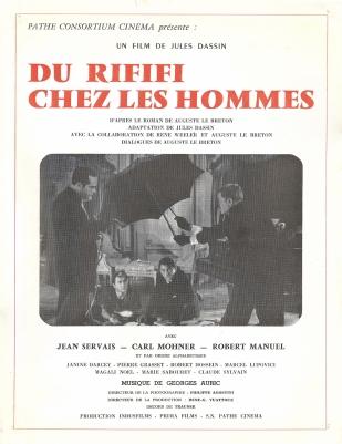 Du rififi chez les hommes (Pathé, 1955). France scénario.