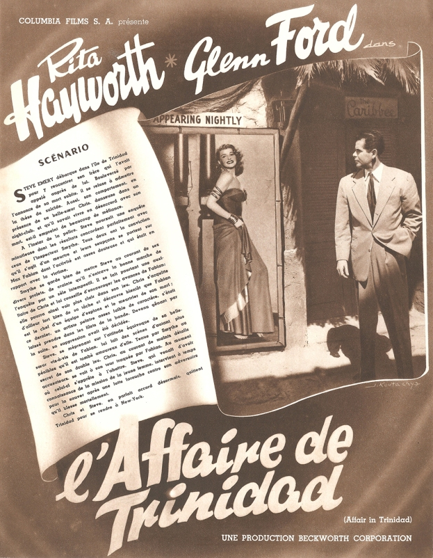 L'affaire de Trinidad (Columbia, 1953). France scénario.