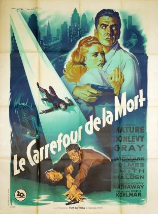 Le carrefour de la mort (20th Century Fox, 1948). France 120 x 160 Mod B.