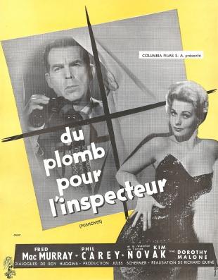 Du plomb pour l'inspecteur (Columbia, 1955). France scénario.