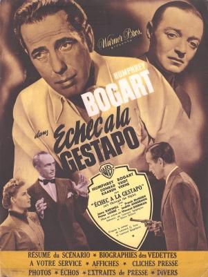 Échec à la Gestapo (Warner Bros, 1949). France DP.
