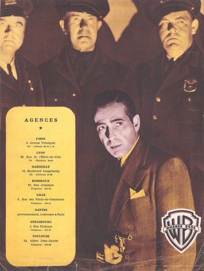 Échec à la Gestapo (Warner Bros, 1949). France DP.