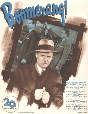 Boomerang (20th Century Fox, 1947). France DP.