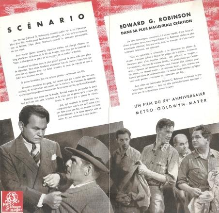 Le dernier gangster (MGM, 1938). France DP.