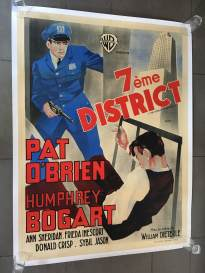 7ème district (Warner Bros, R-40's). France 120 x 160.