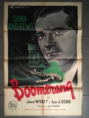Boomerang (20th Century Fox, R-1951). France 80 x 120.