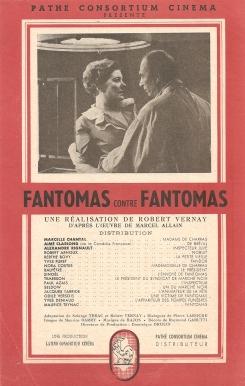 Fantômas contre Fantômas (Pathé, 1949). France DP.