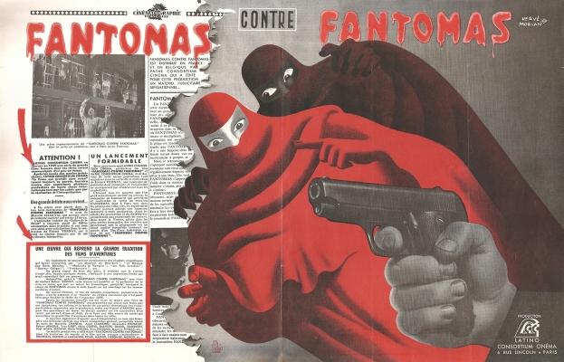 Fantômas contre Fantômas (Pathé, 1949). France publicité.