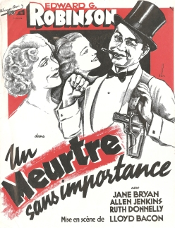 Un meurtre sans importance (Warner Bros. First National, 1938). France DP.