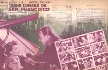 Dans l'ombre de San Fransisco (Universal, 1951). France DP.