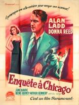 Enquête à Chicago (Paramount, 1951). France 120 x 160.