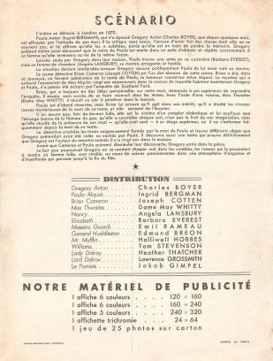 Hantise (MGM, 1947). France scénario.