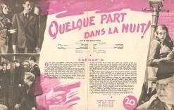 Quelque part dans la nuit! (20th Century Fox, 1948). France DP.