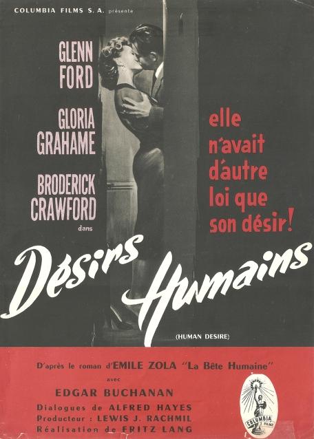 Désirs humain (Columbia, 1955). France DP.
