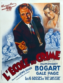 L'école du crime (Warner Bros. First National, 1938). France 120 x 160 Mod A.