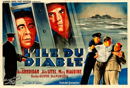 L'île du diable (Warner Bros. First National, 1938). France 240 x 160.